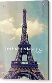 The Grande Dame Quote Acrylic Print by JAMART Photography