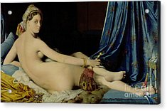 The Grande Odalisque Acrylic Print by Ingres