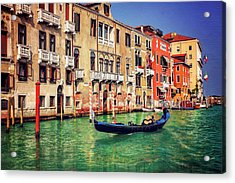 The Grandeur Of The Grand Canal Venice  Acrylic Print