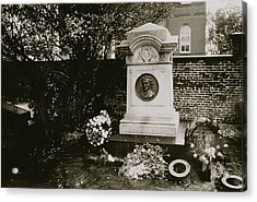 The Grave Of Edgar Allan Poe Acrylic Print by Nat Herz