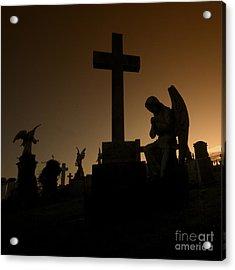 the Graveyard Acrylic Print by Angel  Tarantella