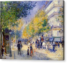 The Great Boulevards Acrylic Print by Renoir