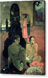 The Great Buddha Acrylic Print by Paul Gauguin
