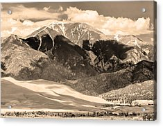 The Great Colorado Sand Dunes In Sepia Acrylic Print by James BO  Insogna