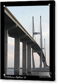 The Great Connection Sidney Lanier Bridge Acrylic Print by Rebecca Stephens