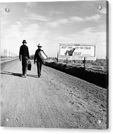 The Great Depression. Toward Los Acrylic Print by Everett