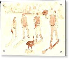 The Great Gobbler Gallop Acrylic Print by Matt Gaudian