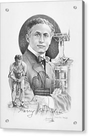 The Great Houdini Acrylic Print by Steven Paul Carlson