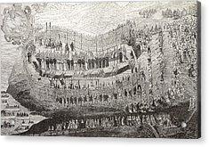The Great Martydom Of Nagasaki, 1622 Acrylic Print