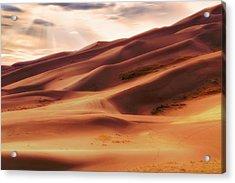 The Great Sand Dunes Of Colorado - Landscape - Sunset Acrylic Print by Jason Politte