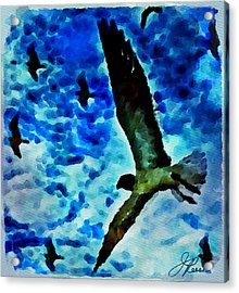 Acrylic Print featuring the painting The Great Seagull by Joan Reese
