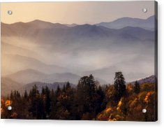 Acrylic Print featuring the photograph The Great Smoky Mountains by Ellen Heaverlo