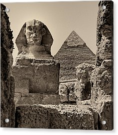 The Great Sphinx And Pyramid Of Khafre Acrylic Print
