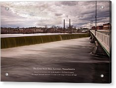 The Great Stone Dam Lawrence, Massachusetts Acrylic Print