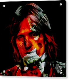 Acrylic Print featuring the mixed media The Great Tom Petty by Marvin Blaine