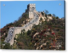 The Great Wall Mountaintop Acrylic Print by Carol Groenen