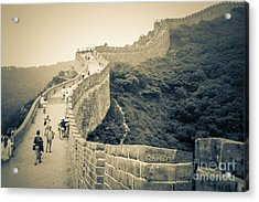 Acrylic Print featuring the photograph The Great Wall Of China by Heiko Koehrer-Wagner