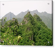 The Great Wall Of China Winding Over Mountains Acrylic Print