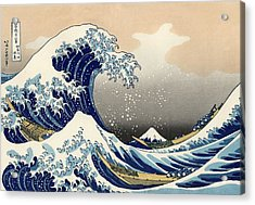 Acrylic Print featuring the photograph The Great Wave Off Kanagawa by Katsushika Hokusai