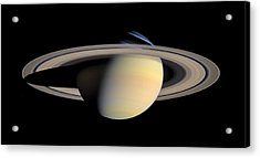 The Greatest Saturn Portrait ...yet Acrylic Print by Space Art Pictures