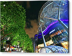 Acrylic Print featuring the photograph The Green And Concrete by Ng Hock How