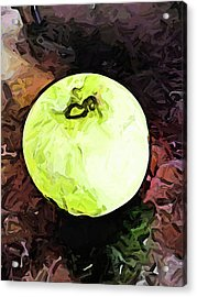 The Green Apple In The Bright Light Acrylic Print