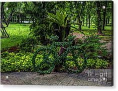 The Green Bicycle Acrylic Print