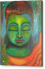 The Green Buddha Acrylic Print