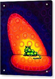 The Green Cat Acrylic Print