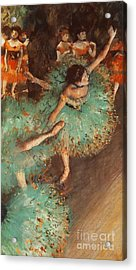 The Green Dancer Acrylic Print by Degas