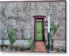 The Green Door Acrylic Print