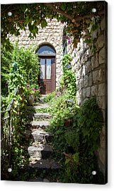 The Green Entrance Acrylic Print by Yoel Koskas
