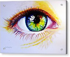 The Green Eye Acrylic Print by Estela Robles