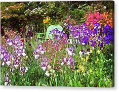 Acrylic Print featuring the photograph Hiding In The Garden by Thom Zehrfeld