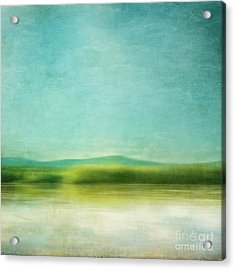The Green Haze Acrylic Print by Priska Wettstein