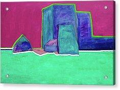 The Green Line By Nixo Acrylic Print
