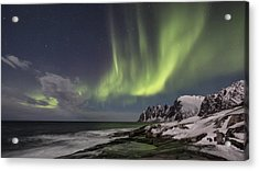 The Green Magic From The Sky Acrylic Print