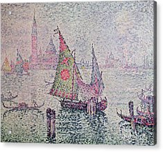The Green Sail Acrylic Print by Paul Signac