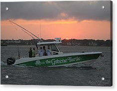 The Greene Turtle Power Boat Acrylic Print
