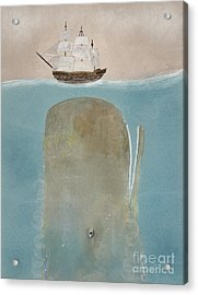 Acrylic Print featuring the painting The Grey Whale by Bri B