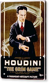 The Grim Game, Harry Houdini, 1919 Acrylic Print by Everett