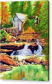 The Grist Mill Acrylic Print by Gerald Carpenter