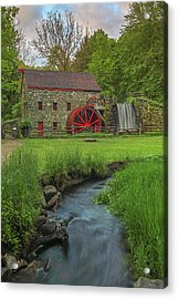 The Grist Mill In Sudbury Acrylic Print by Juergen Roth