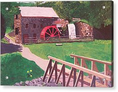 The Gristmill At Wayside Inn Acrylic Print by William Demboski