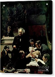 The Gross Clinic Acrylic Print by Thomas Cowperthwait Eakins