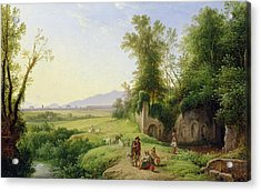 The Grove Of Egeria  Acrylic Print by Franz Ludwig Catel
