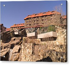 The Grove Park Inn Back Terraces And Waterfall Acrylic Print