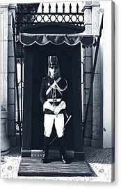Acrylic Print featuring the photograph The Guard At The Palace by Lorraine Devon Wilke