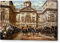 The Guard Mounting  The Horse Guards At Whitehall  Acrylic Print by Harry Payne and Arthur Charles