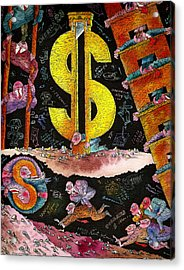 Financial Crisis  Acrylic Print
